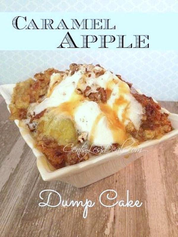 Apple Pie Filling Dump Cake  apple pie filling dump cake