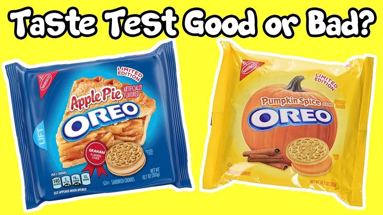 Apple Pie Oreos  Oreo Apple Pie And Pumpkin Spice Cookies Taste Test