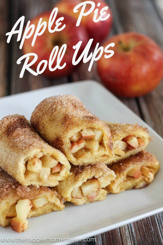 Apple Pie Recipe Easy  Apple Pie Roll Ups