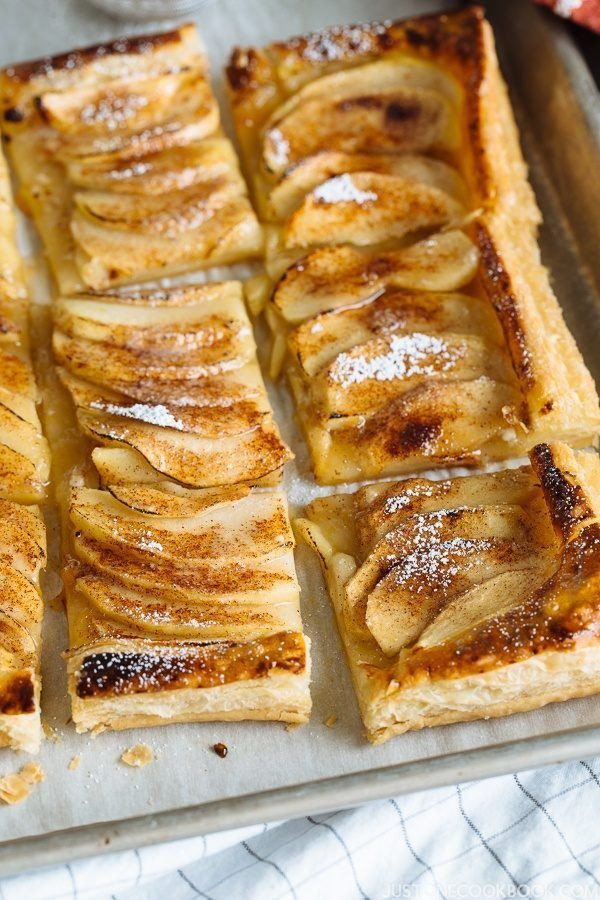 Apple Pie Recipe Easy  Easy Apple Tart 簡単アップルタルト • Just e Cookbook
