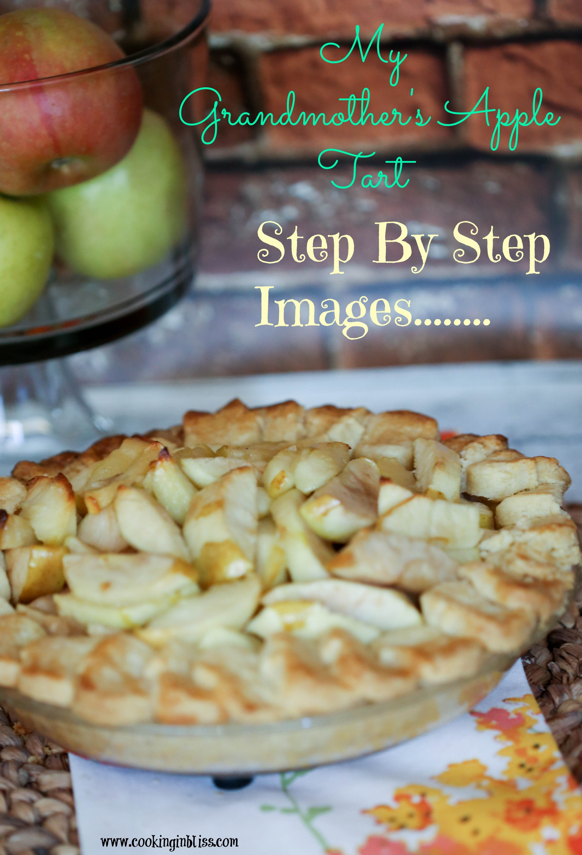 Apple Pie Recipe Easy  Easy Apple Tart Recipe Cooking in Bliss