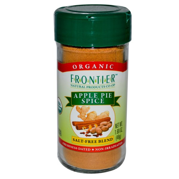 Apple Pie Spices  Frontier Natural Products Organic Apple Pie Spice Salt