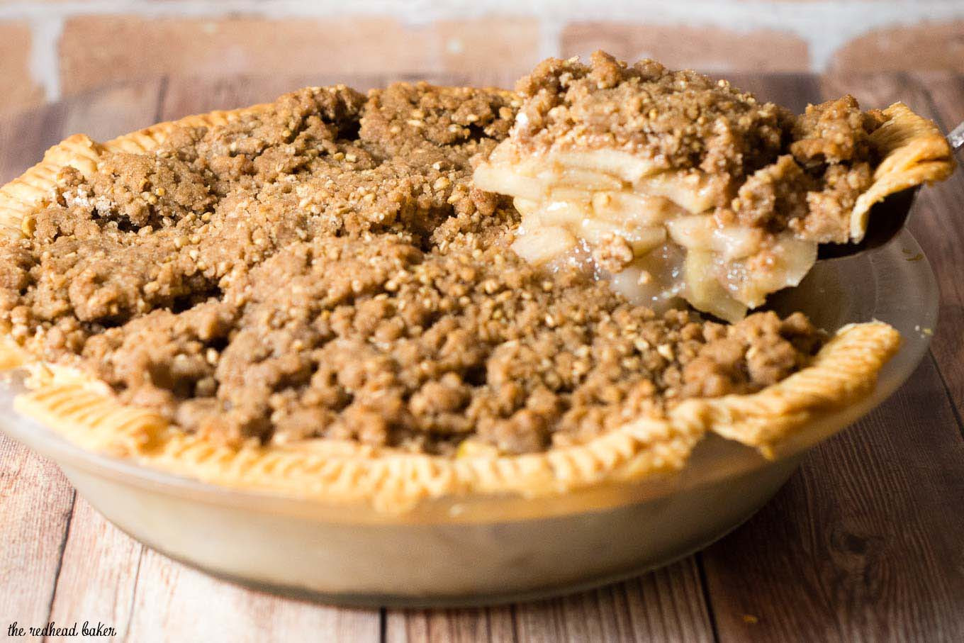 Apple Pie With Crumble Topping  Apple Pie with Oat Crumb Topping by The Redhead Baker