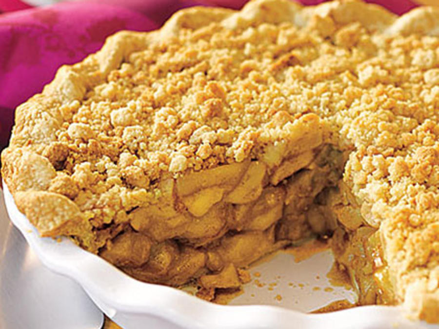 Apple Pie With Crumble Topping  brown sugar streusel topping apple pie