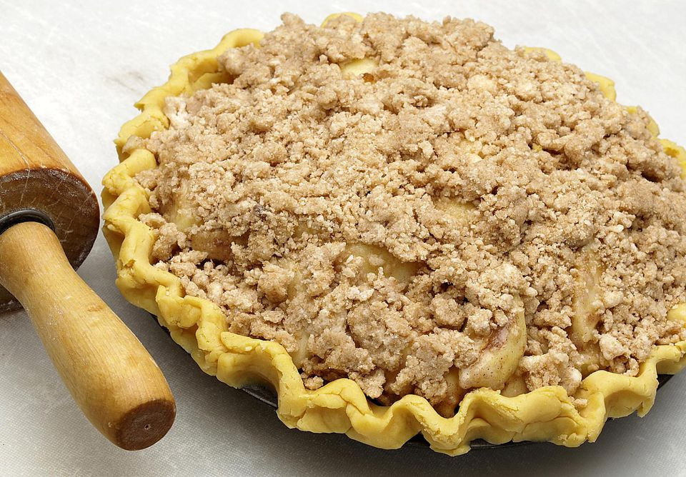 Apple Pie With Crumble Topping  Sour Cream Apple Pie With Streusel Topping Recipe