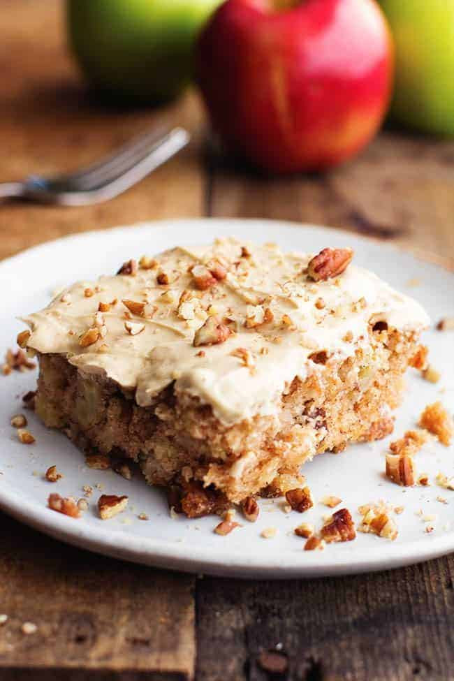 Apple Spice Cake  Apple Pecan Spice Cake with Brown Sugar Cream Cheese