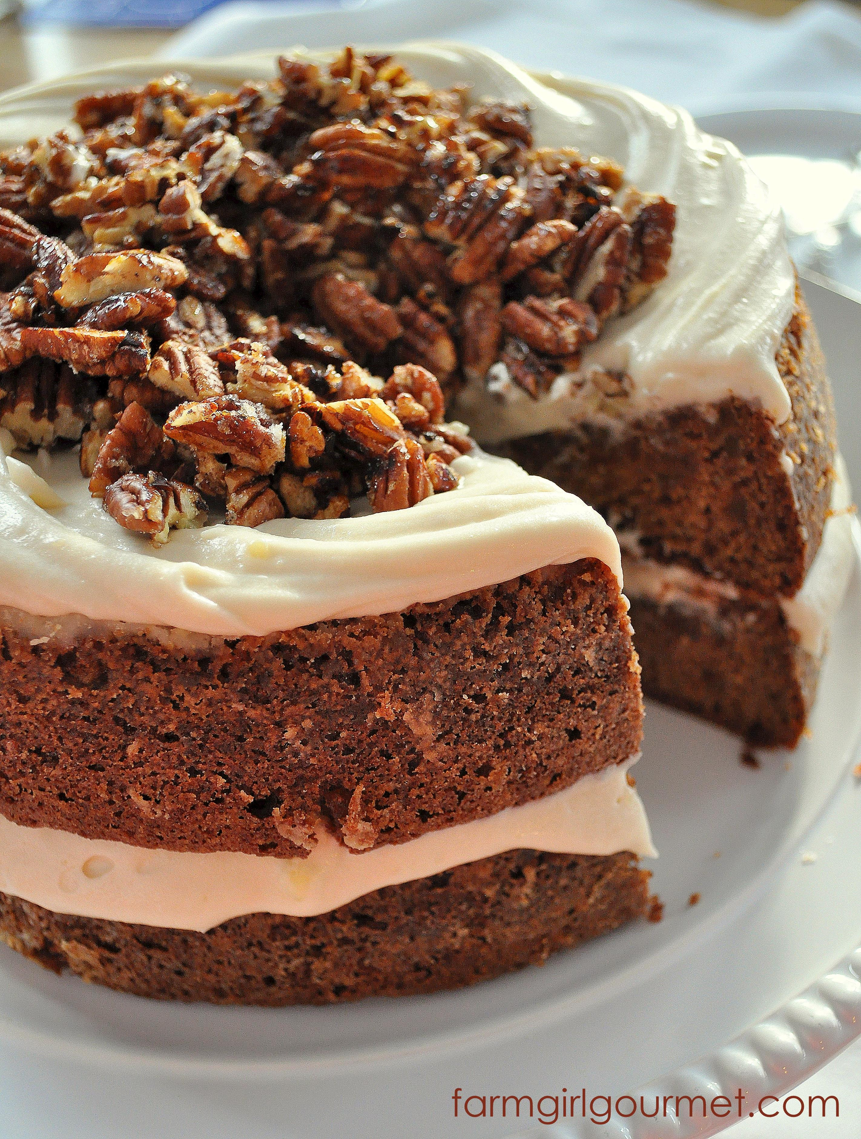 Apple Spice Cake  Caramelized Apple Spice Cake with Brie Icing & Sugared