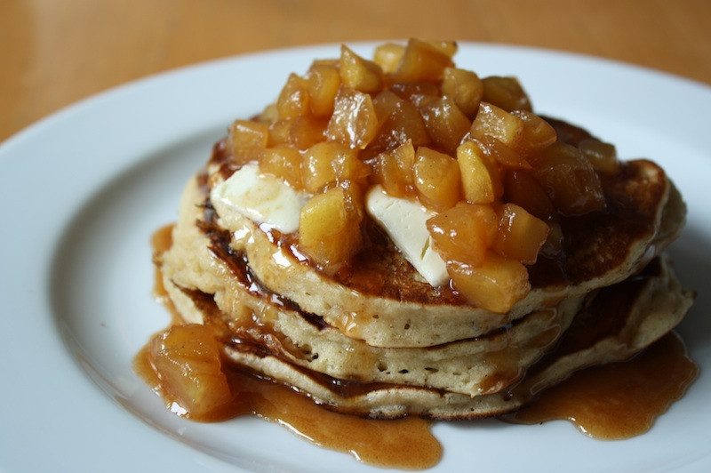Apple Topping For Pancakes  better pancake topping and an Orchard Party … Apple Cider