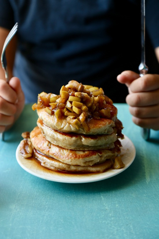 Apple Topping For Pancakes  Apple Cider Pancakes Packed with Protein The Seaside Baker