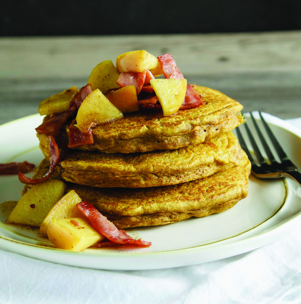 Apple Topping For Pancakes  Harvest Pumpkin Pancakes with Bacon Apple Topping Recipe