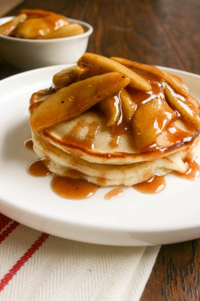 Apple Topping For Pancakes  Apple Topped Pancakes To Eat Drink & Be Married