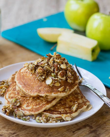 Apple Topping For Pancakes  Whole Wheat Apple Pancakes with Nutty Topping Spicy
