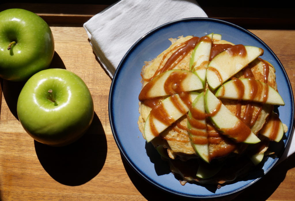 Apple Topping For Pancakes  Pancakes with Cinnamon Apple Topping Weavers Orchard