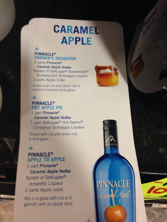 Apple Vodka Drinks  Pinnacle caramel apple vodka drink mix recipes