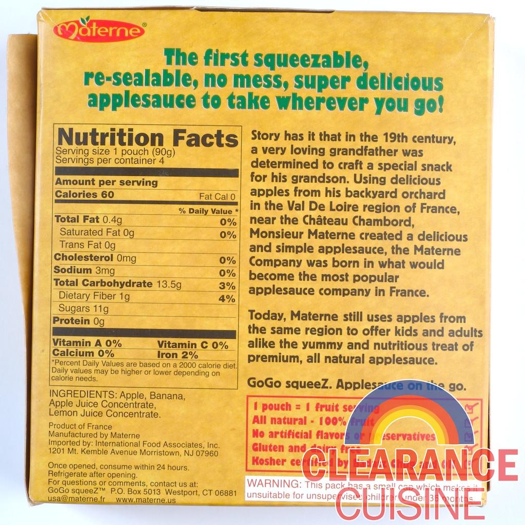 Applesauce Nutrition Facts  homemade applesauce nutrition