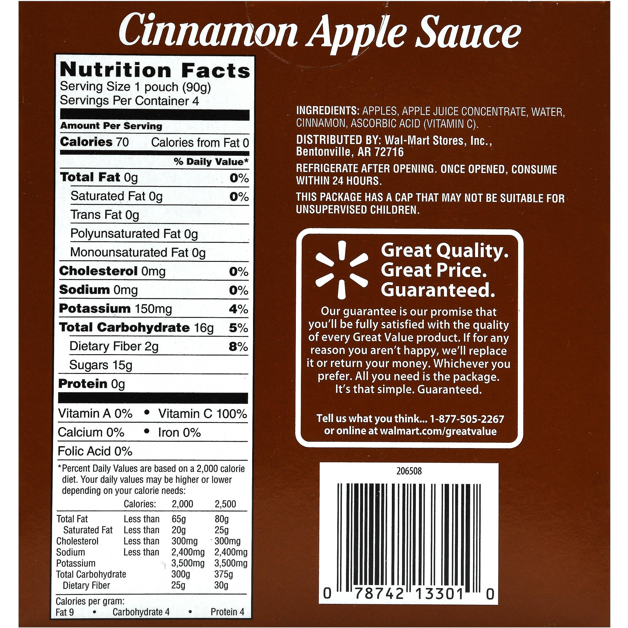 Applesauce Nutrition Facts  Cinnamon Applesauce Nutrition Facts Nutrition Ftempo