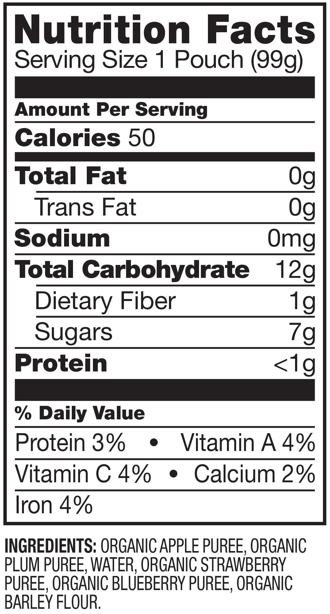 Applesauce Nutrition Facts  Motts Blueberry Applesauce Nutrition Facts – Nutrition Ftempo