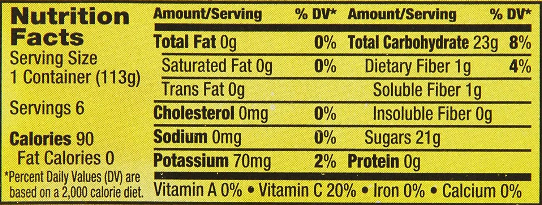 Applesauce Nutrition Facts  Applesauce Nutrition Facts Motts Nutrition Ftempo