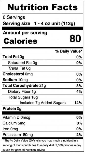 Applesauce Nutrition Facts  Musselman S Applesauce Nutrition Facts Nutrition Ftempo