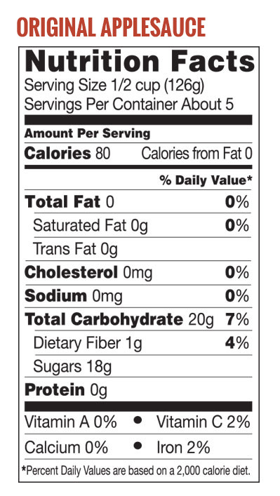 Applesauce Nutrition Facts  Nutrition Facts About Applesauce – Nutrition Ftempo