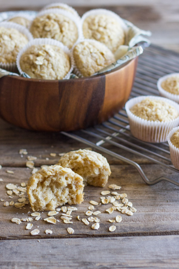 Applesauce Oatmeal Muffins  Healthy Applesauce Oat Muffins Lovely Little Kitchen
