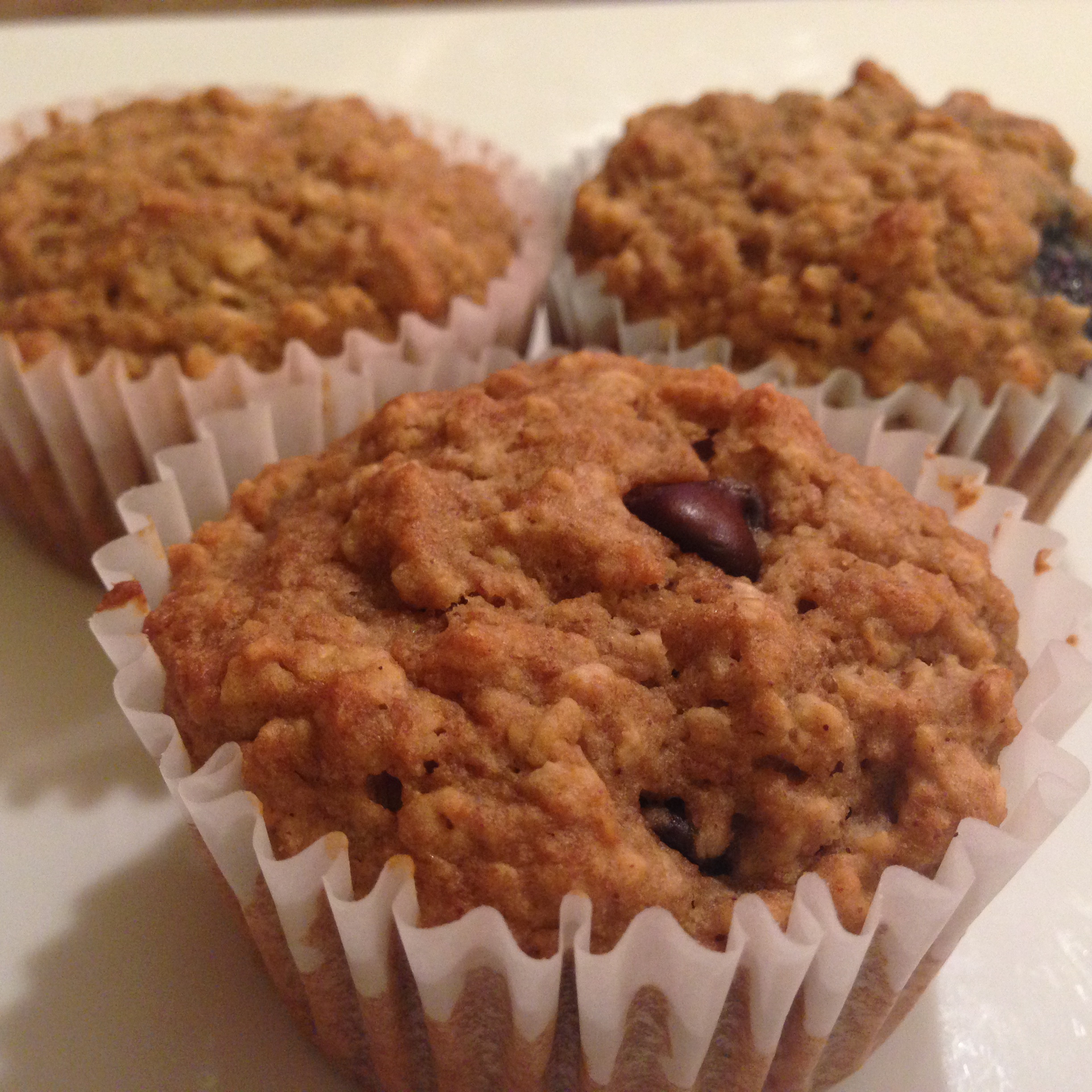"Applesauce Oatmeal Muffins  Applesauce Oatmeal Muffins with Blueberries… ""The Best"