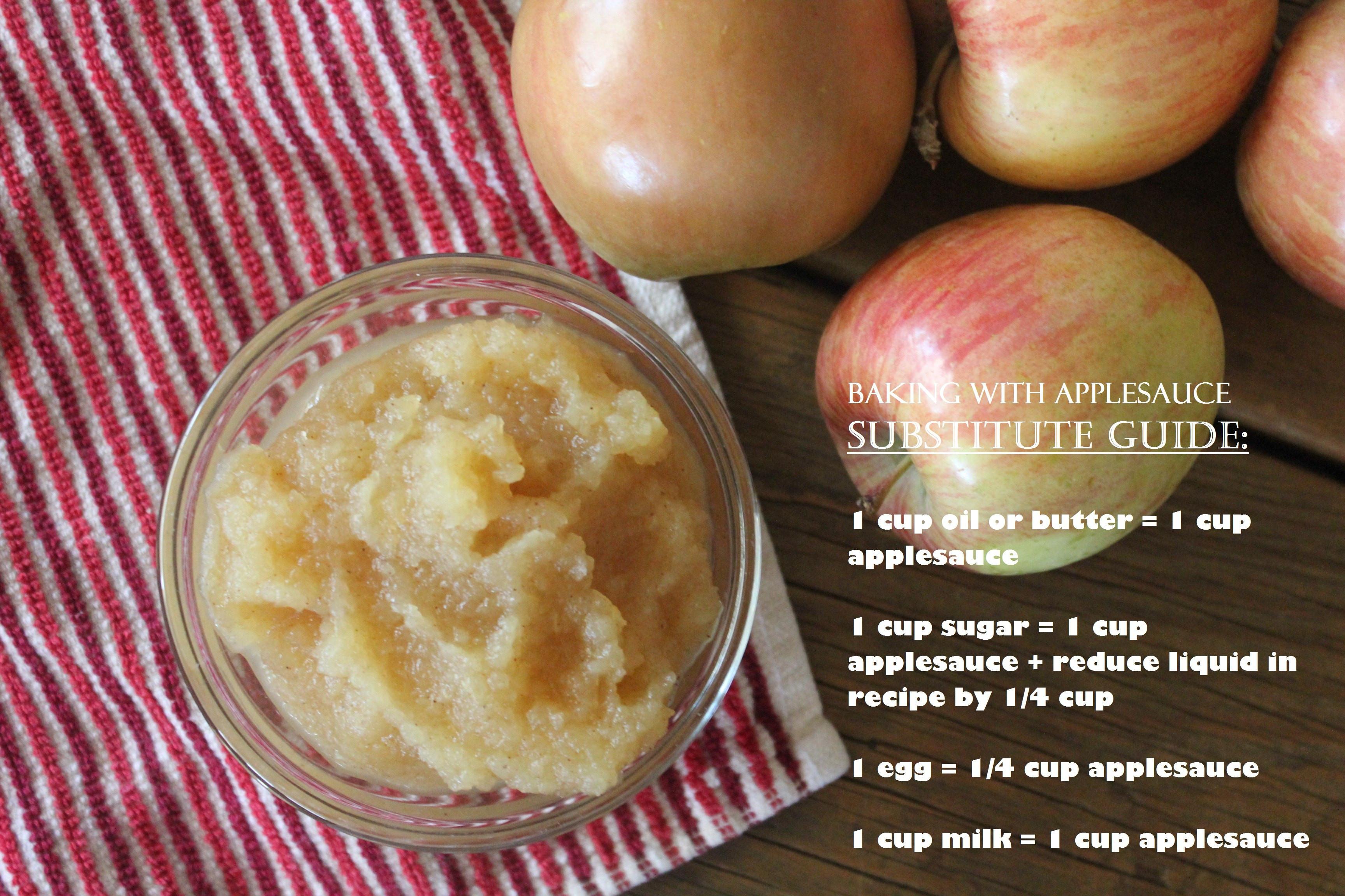 Applesauce Substitute For Egg  Homemade Applesauce No Added Sugar