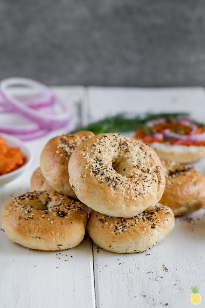 Are Bagels Vegan  Fluffy New York Style Bagels vegan oil free
