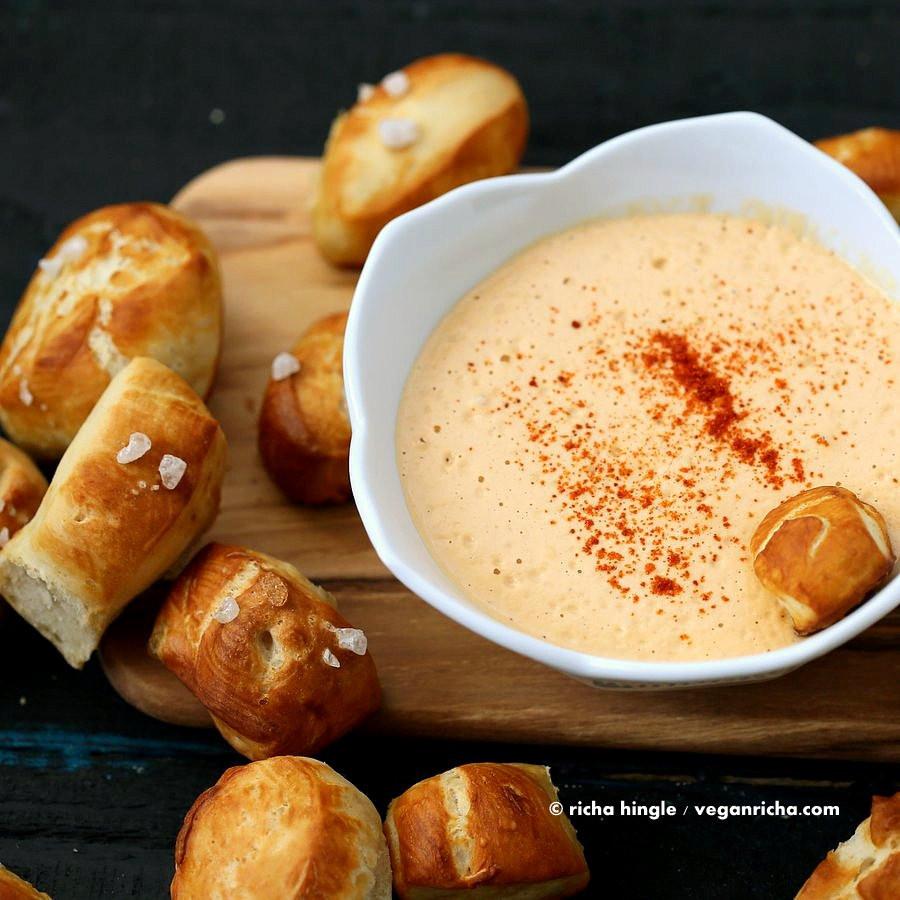 Are Pretzels Vegan  Vegan Pretzel Bites with Spicy Mustard Dip Vegan Richa