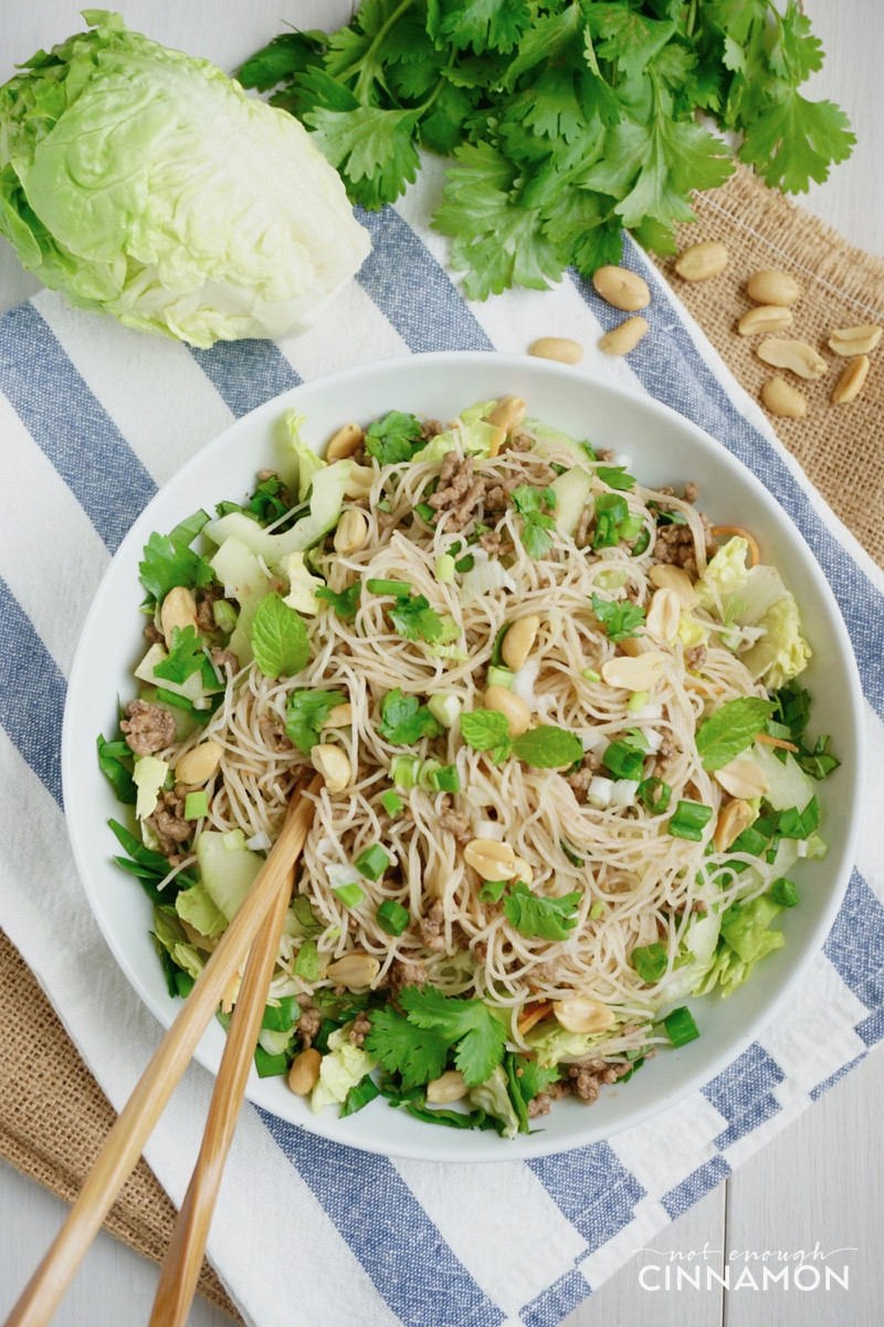 Are Rice Noodles Gluten Free  Vietnamese Beef and Rice Noodle Salad Gluten Free Dairy