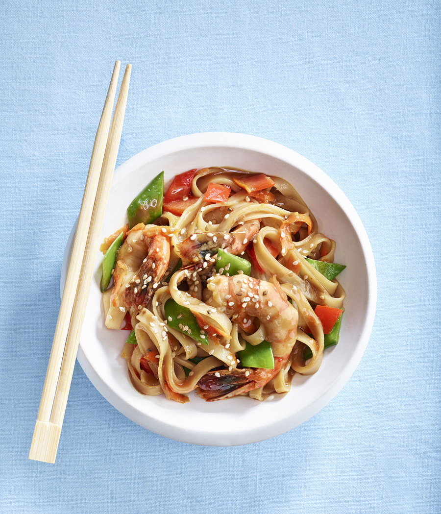 Are Rice Noodles Gluten Free  Gluten Free Shrimp and Rice Noodle Stir Fry Gluten Free
