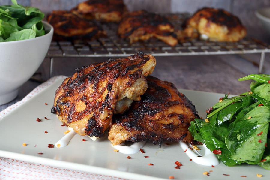 """Asian Chicken Thighs  Oven """"Grilled"""" Asian Chicken Thighs"""