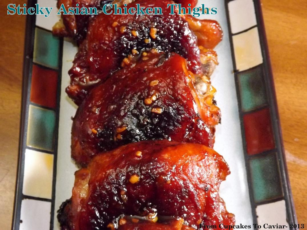 Asian Chicken Thighs  Sticky Asian Chicken Thighs