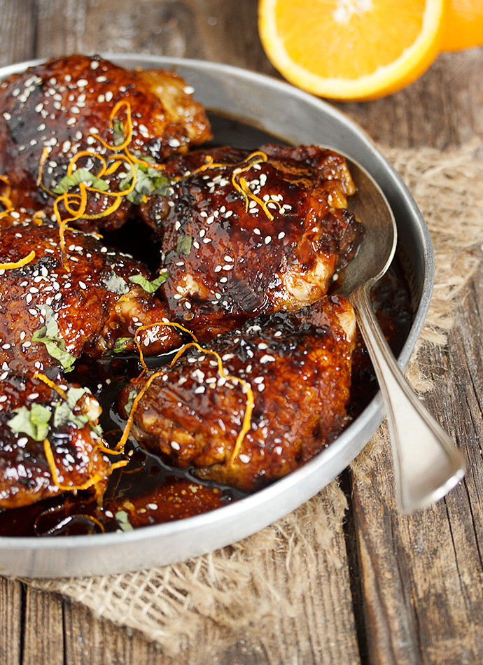 Asian Chicken Thighs  Asian Sweet and Spicy Sticky Chicken Seasons and Suppers