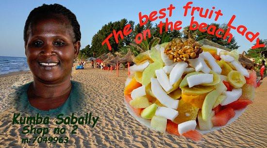 Ask The Fruitcake Lady  fruit lady Kumba Picture of Swiss Tavern Beach Bar and