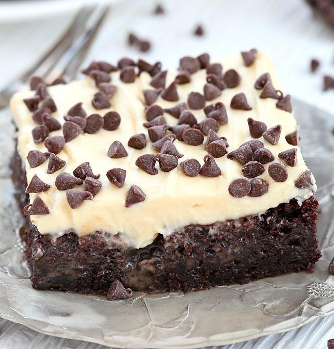 Baileys Chocolate Poke Cake  BAILEYS CHOCOLATE POKE CAKE Maria s Mixing Bowl