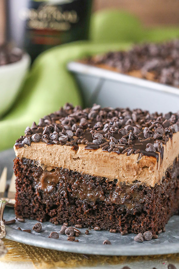 Baileys Chocolate Poke Cake  chocolate poke cake recipes