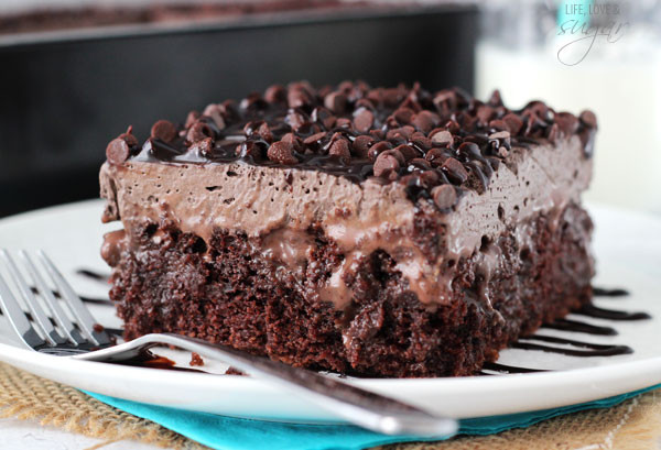 Baileys Chocolate Poke Cake  Chocolate Poke Cake Life Love and Sugar