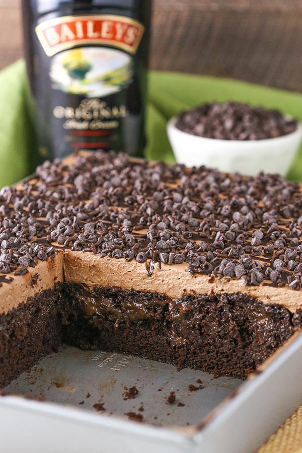 Baileys Chocolate Poke Cake  Baileys Chocolate Poke Cake