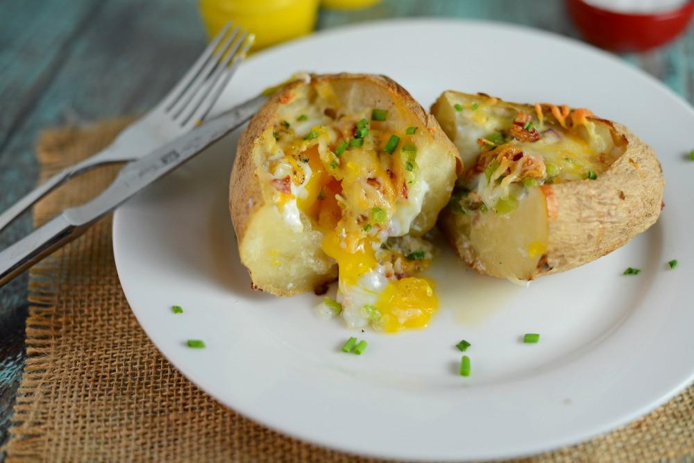 Baked Breakfast Potatoes  Stuffed Breakfast Potatoes A Mouth Watering Stuffed