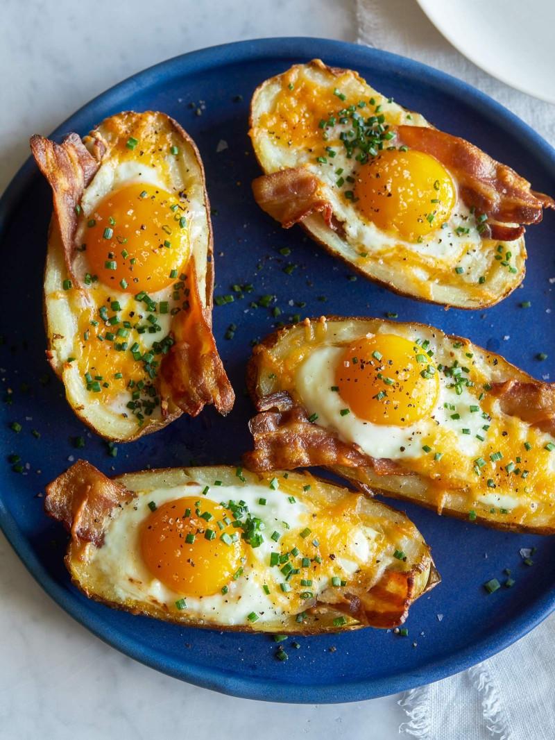 Baked Breakfast Potatoes  Twice Baked Breakfast Potatoes