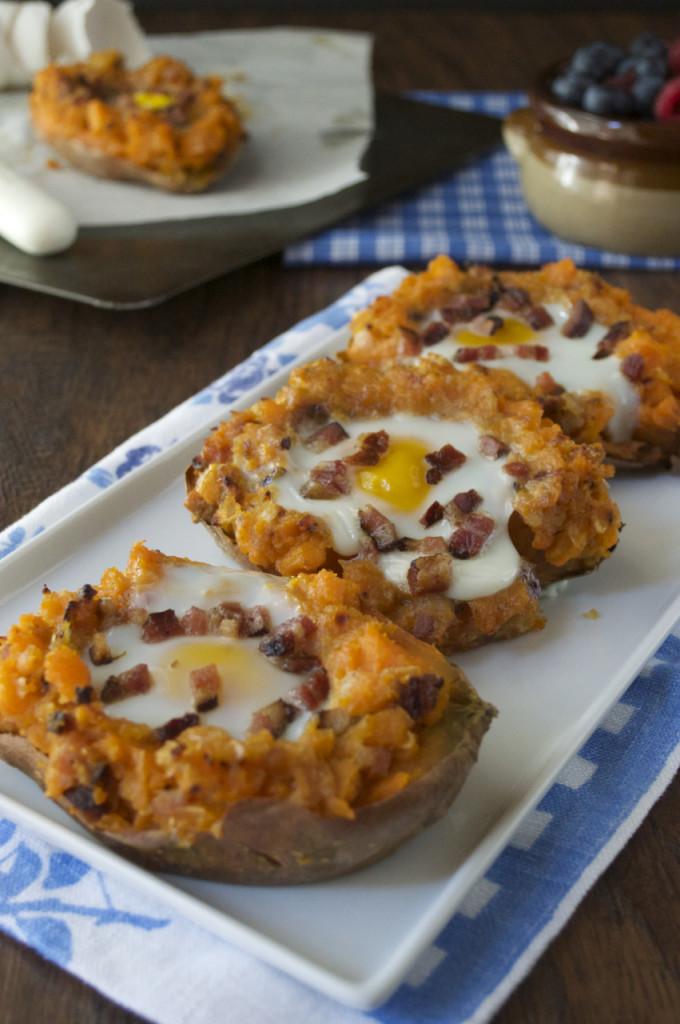 Baked Breakfast Potatoes  Twice Baked Breakfast Sweet Potatoes Primal Palate