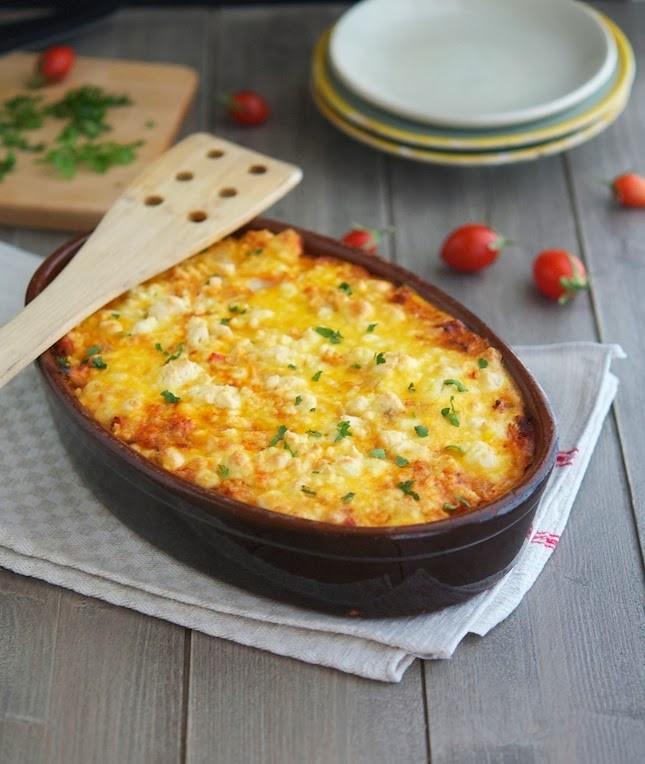 Baked Cauliflower Casserole  The Iron You Roasted Cauliflower Tomato and Goat Cheese