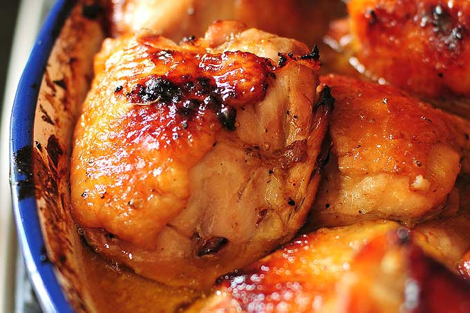 Baked Chicken Thighs Recipe  Honey Soy Baked Chicken Thighs Recipe