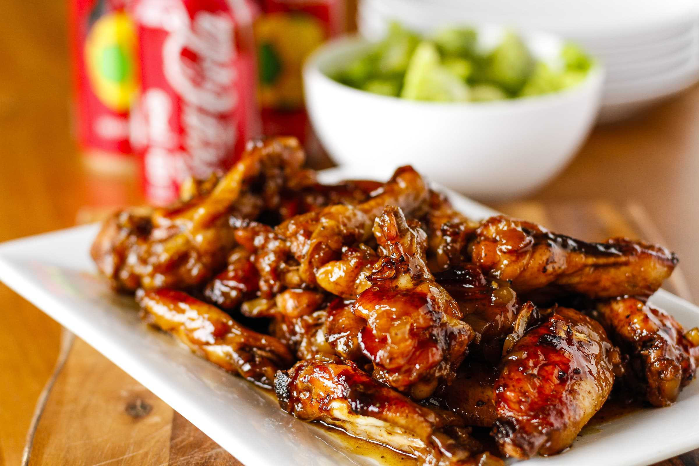 Baked Chicken Wings Recipe  Crispy Coca Cola Baked Chicken Wings