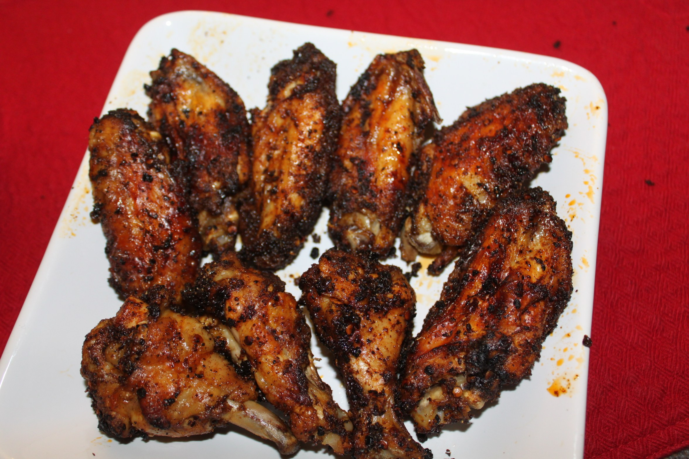 Baked Chicken Wings Recipe  BAKED Chicken Wings Recipe With Chipotle Dry Rub