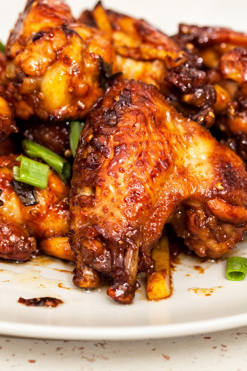 Baked Chicken Wings Recipe  Baked Honey Garlic Chicken Wings