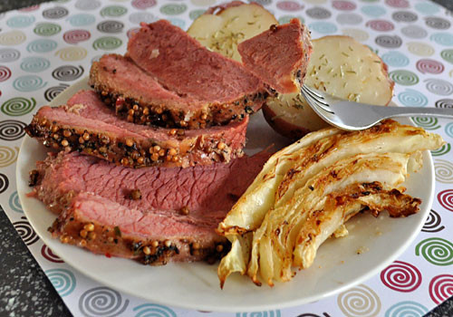 Baked Corn Beef  Baked Corned Beef with Potatoes and Cabbage