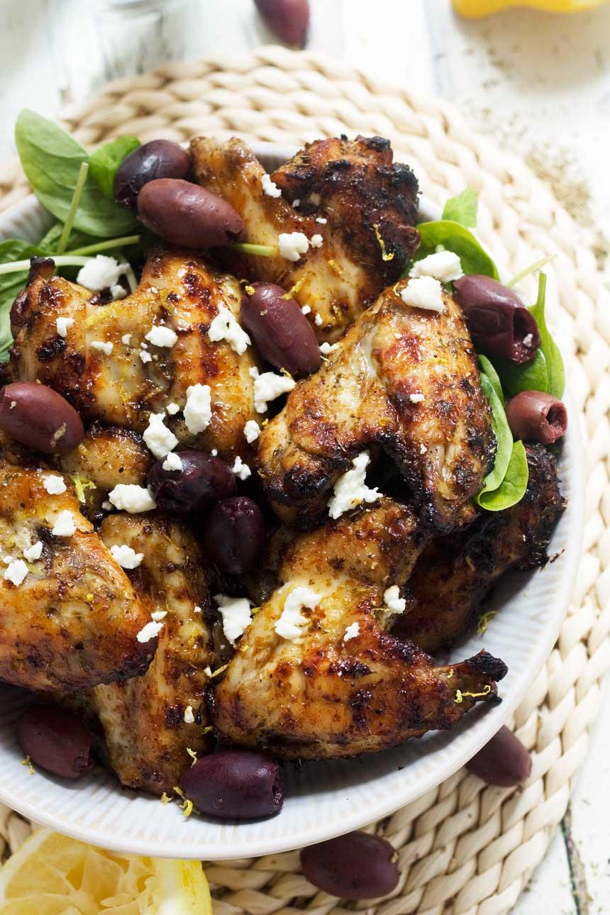 Baked Greek Chicken  Greek baked chicken wings from Recipe Tin Eats