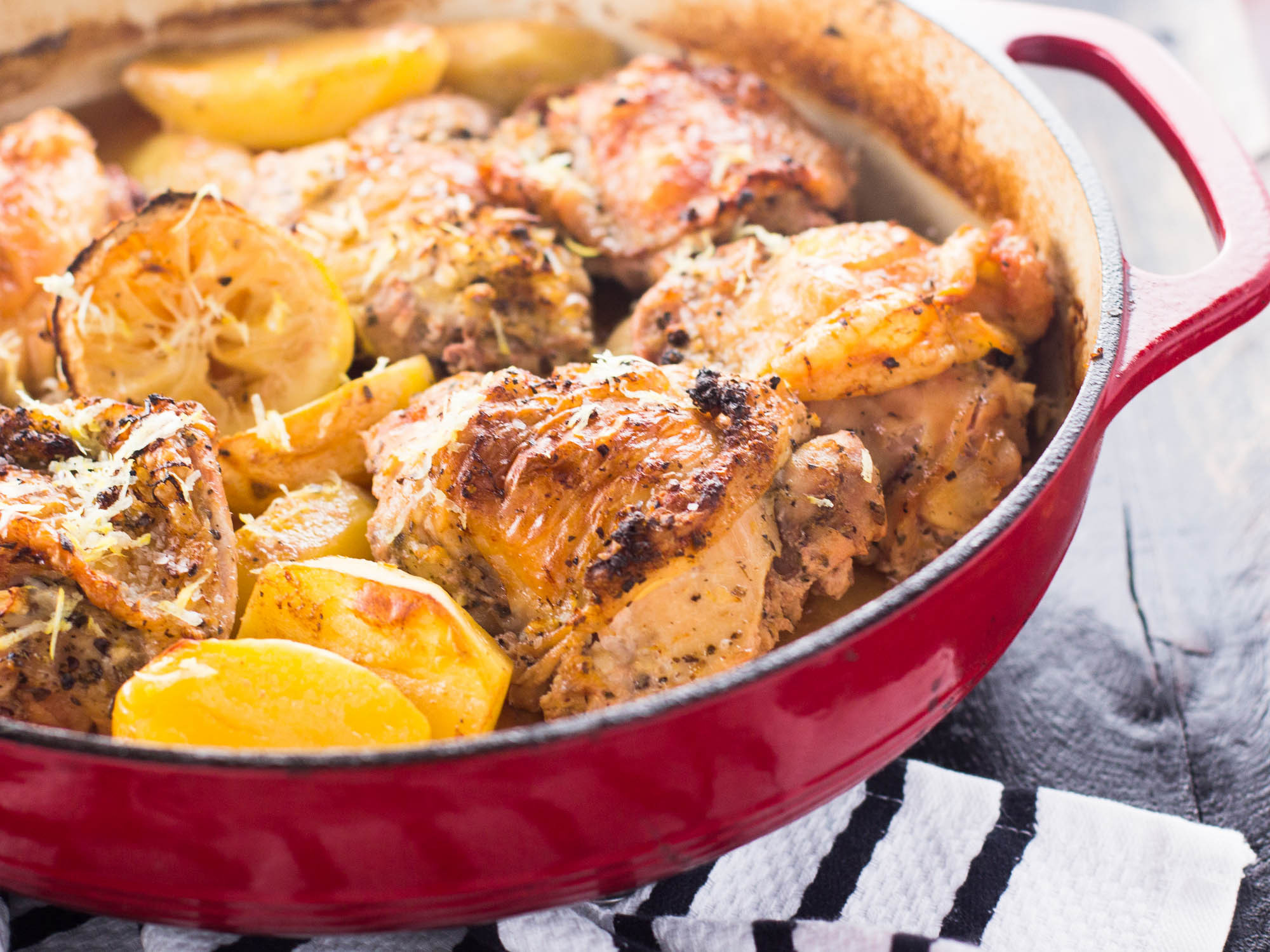 Baked Greek Chicken  e Pot Greek Chicken and Potatoes Girl and the Kitchen